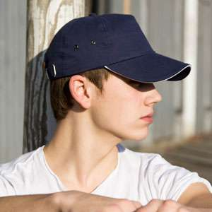 Kappen - Result Headwear -  Printers Plush Cotton 5 Panel Cap