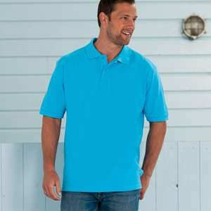 Poloshirt - Russell -  Mens Classic Cotton Polo