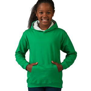 Sweater - Just Hoods - Kids Varsity Hoodie